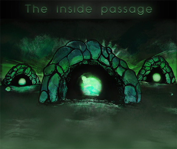 Cover the inside passage psybass music album